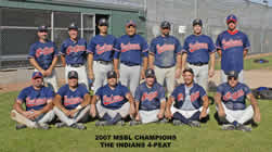 2007 National Division Champions - Indians